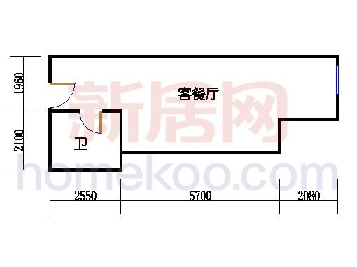 6层B-606单元