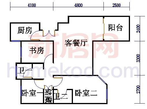 2号2楼B户型02室