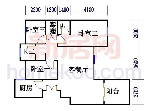 8号2楼C户型01室