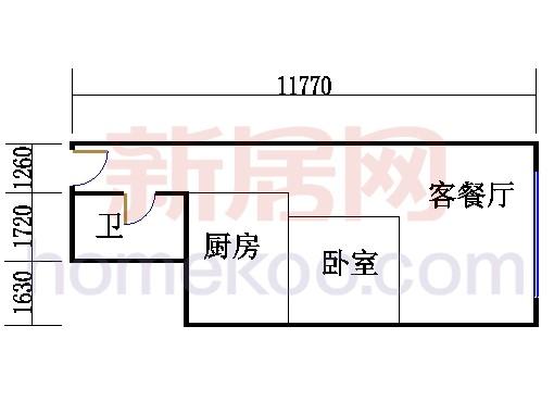16层B-1608单元