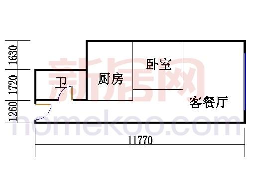 16层B-1609单元