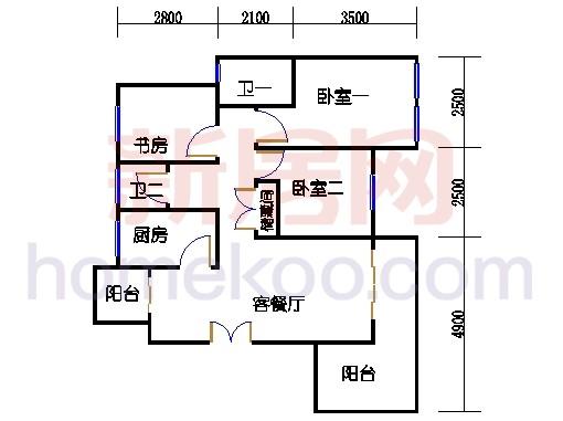 26号4楼G户型01室