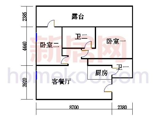 16层B-1615单元