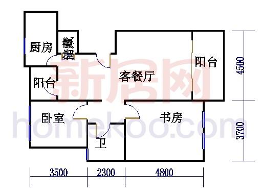 17号5楼M户型02室