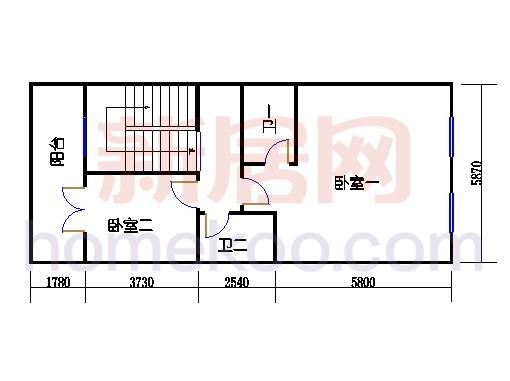 C单元三层住宅