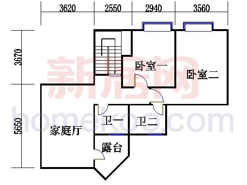 富景阁06复式单位二层