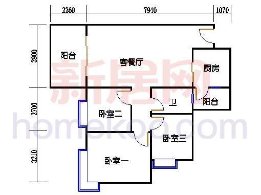 C3栋4层03单元