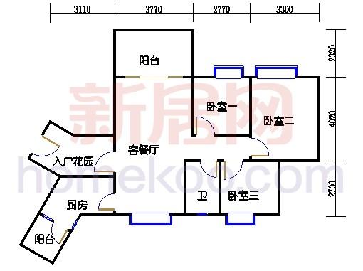 C3栋5-14层06单元