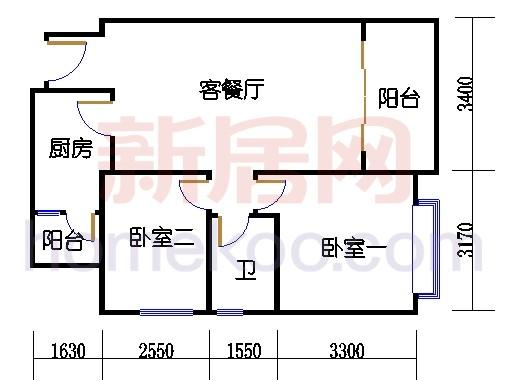 F1栋3-21层0305-2105