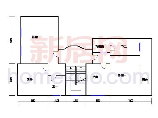 E1单元二层