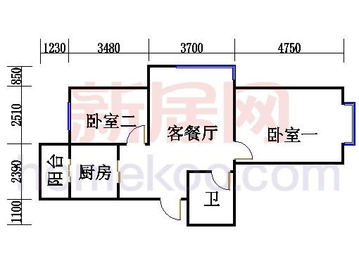 7、8、11、12、16、17、20、21号楼H单元(三期)
