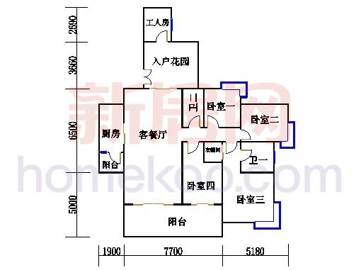 D1栋2-23层01单元