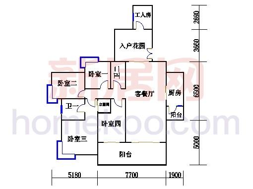 D1栋2-23层02单元