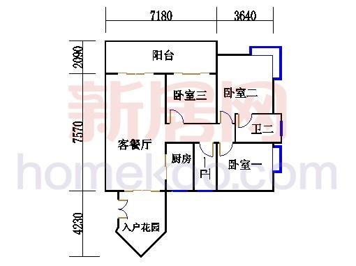 D1栋2-23层04单元