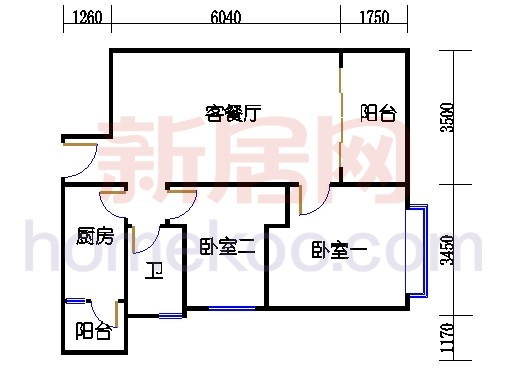 F2栋3-21层0305-2105