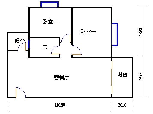 1座1.2梯3-5层A单元301-501