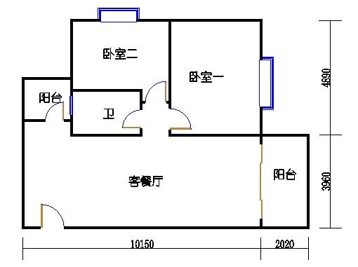 1座1.2梯3-5层B单元301-501