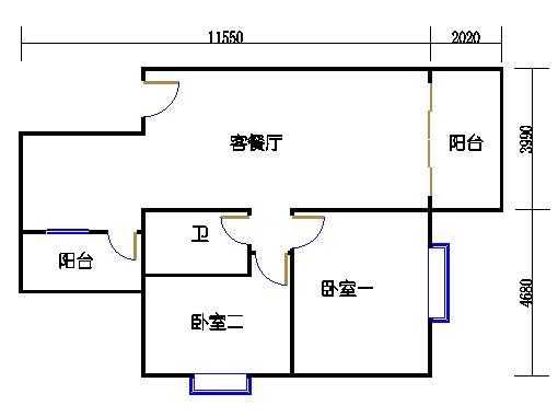 1座1.2梯3-5层B单元302-502