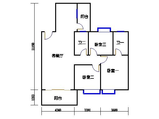 1座3梯3-5层303-503