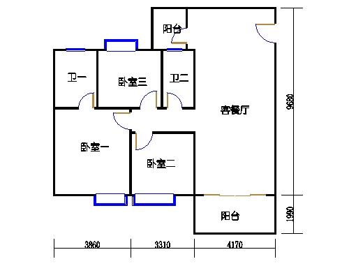 1座3梯3-5层308-508