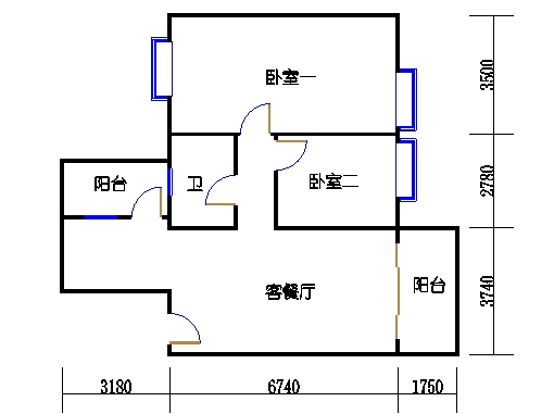 锦绣趣园12座5层A单元203