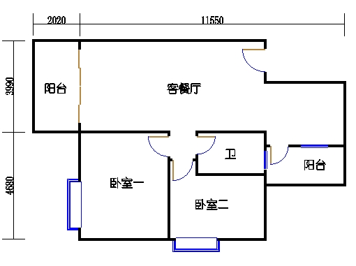 锦绣趣园12座5层B单元203