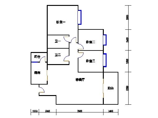 水云居5座1梯三层B单元02