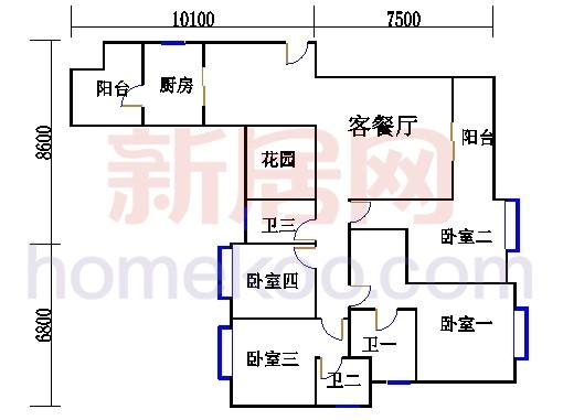 B栋3-29层01单元