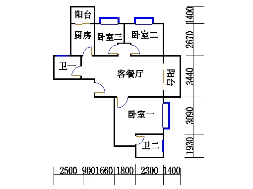 A栋23层A02单元
