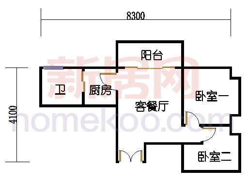 A栋24-26层A01单元