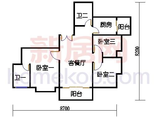 A栋24-26层A02单元