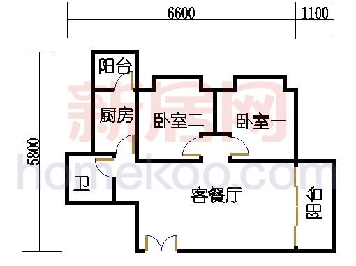 A栋24-26层A03单元