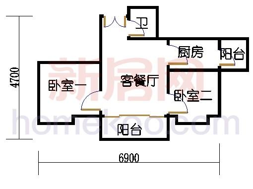B栋24-26层B01单元