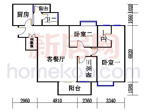 B栋五、六至十八层07单元