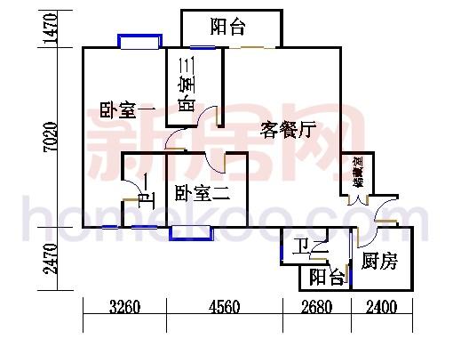 D栋5、6至18层06单元