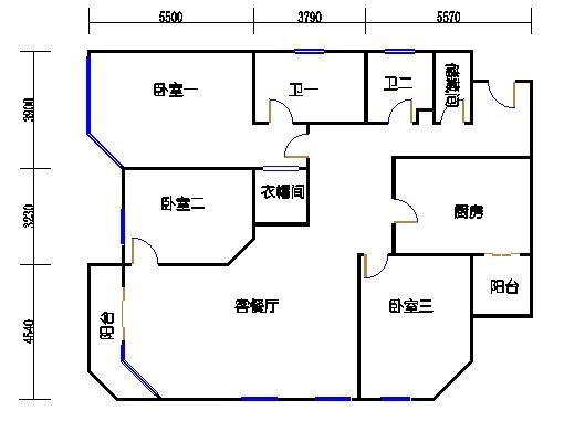A.B栋5-33层A单元