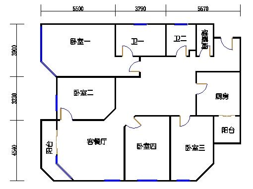 A.B栋5-33层A1单元
