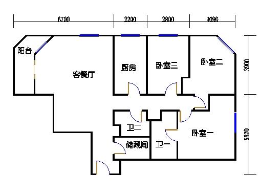 A.栋5-33层B单元