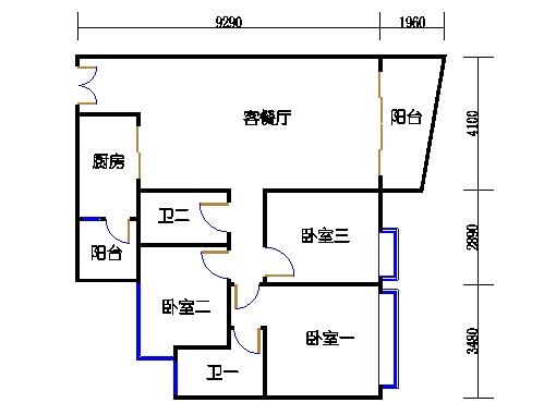 C2栋03-21层02单元