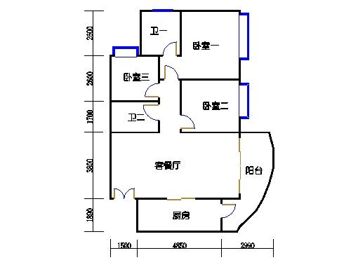 C2栋03-21层06单元