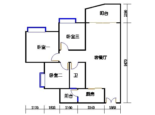 C1栋03-21层04单元