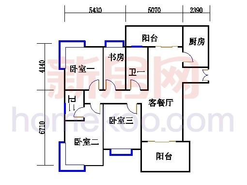 H3栋5.7.9.11.13层03单元