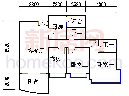 H2栋5.7.9.11.13层02单元