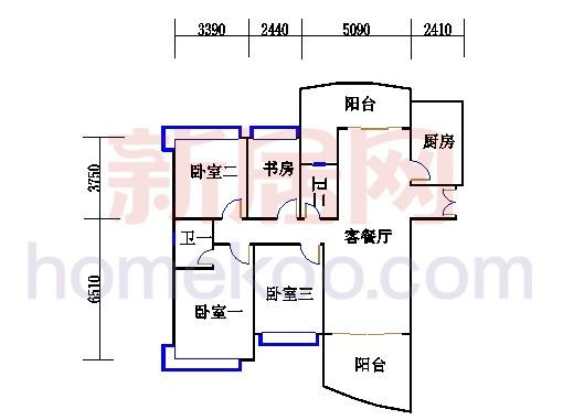 H2栋5.7.9.11.13层03单元