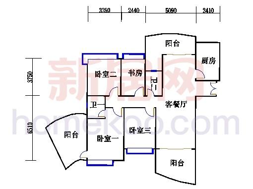 H3栋4.6.8.10.12层03单元
