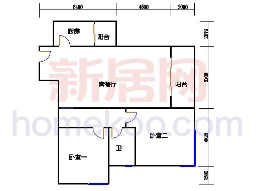 A栋4-14楼(双数楼层)03单位