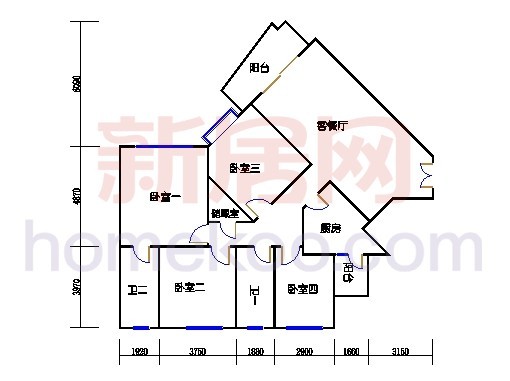 41座皇华轩2-27层A单元