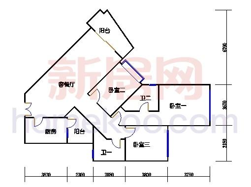 41座皇华轩2-27层B单元
