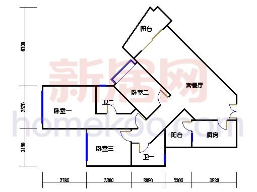 42座皇荣轩2-27层C单元