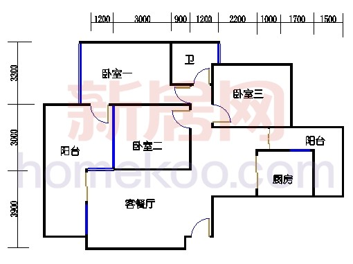 B1-1、B1-2、B1-3、B1-4栋02单位